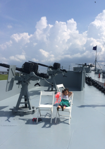 Dani at USS Alabama